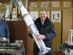 Rocket model in International Space School