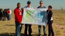 """""""旅游之国""""公司在拜科努尔航天器发射场上"""