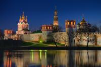 Jungfrau Kloster, Moskau Stadtrundfahrt bei Nacht