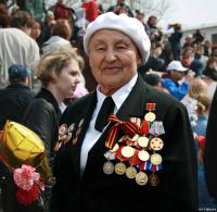 Veterans on parade