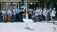 Launch of rocket in International Space School