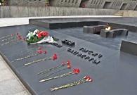 Eternal flame, memorial in Khatyn