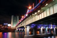 Moskau Stadtrundfahrt bei Nacht