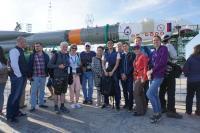Tourists on verticalization of Soyuz spaceship