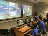 Training in docking simulator